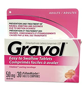 Amazon Com Easy To Swallow Gravol 30 Tablets Antinauseant For