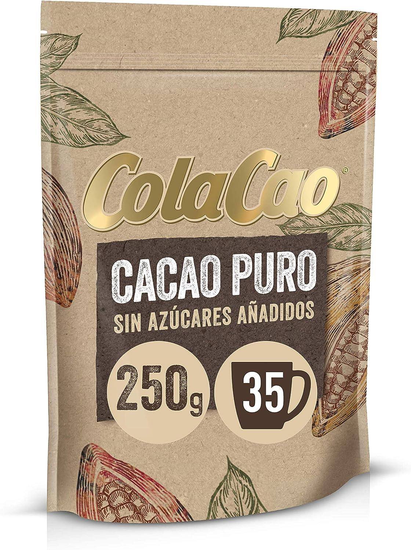 Cola Cao Puro:100% Cacao Natural y sin Aditivos, 250g