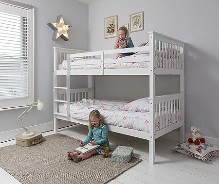 Litera de la marca Anders, color blanco, se divide en 2 camas individuales, Noa y Nani: Amazon.es: Hogar