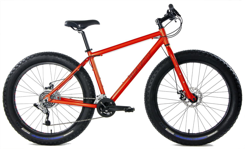 アルミ製ファットバイク 強力ディスクブレーキ グラビティーモンスター メンズ 太いタイヤの自転車26 インチx 4 インチ B01MSIJZAT 16in オレンジ オレンジ 16in