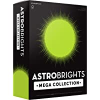 """Astrobrights Mega Collection, Colored Paper, Neon Green, 625 Sheets, 24 lb/89 gsm, 8.5"""" x 11"""" - MORE SHEETS! (91672)"""