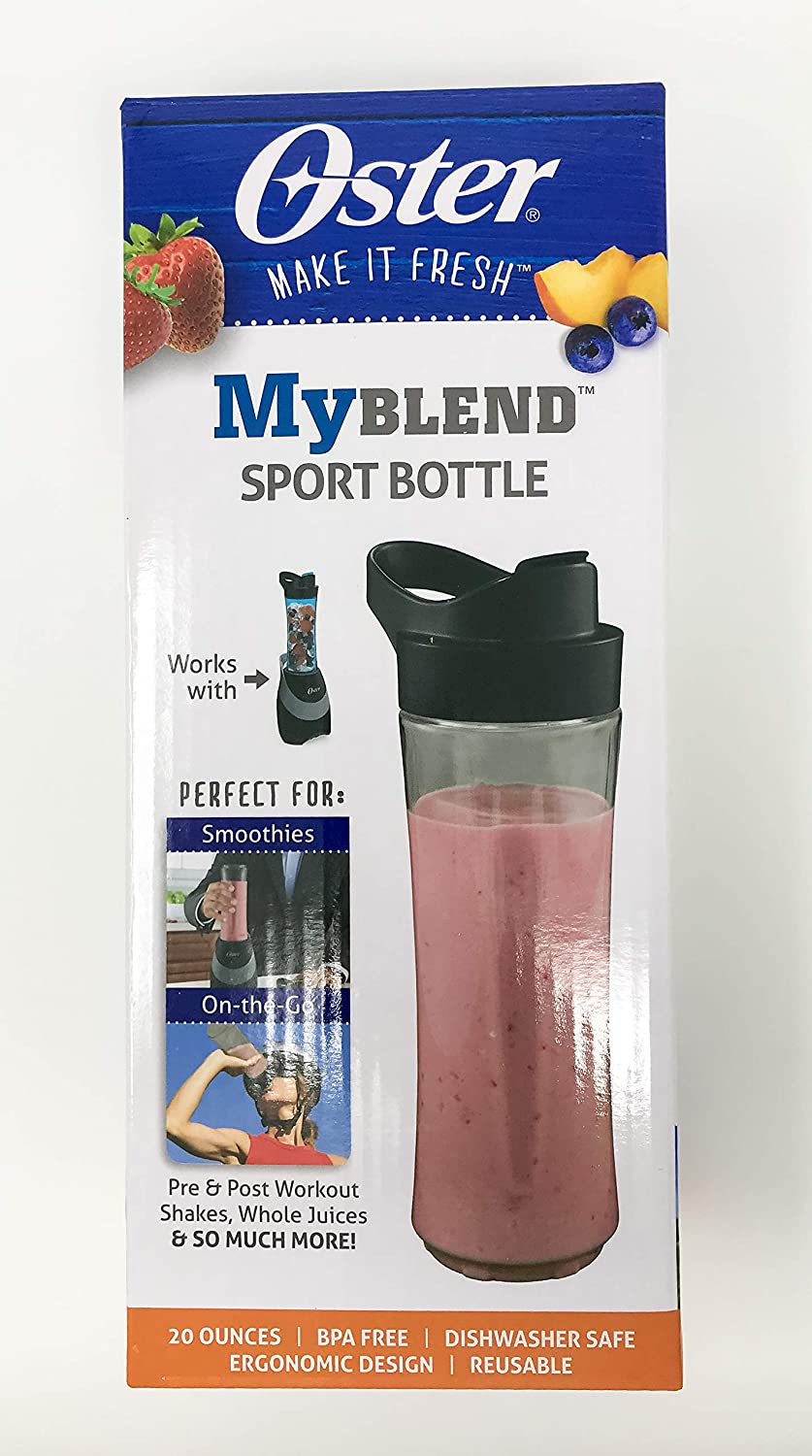 Oster MyBlend Sport Bottle BLSTAV-SMN Gray BPA Free 20 Ounces