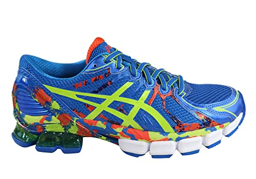 4c9bc1093f87 ASICS Men s Electric Blue Lime Cherry Tomato Gel-Sendai 2 Running Shoes US