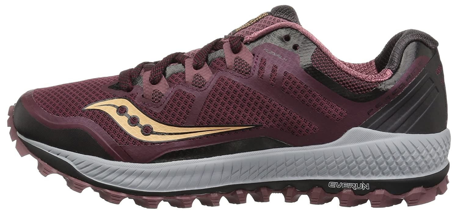 Saucony Women's Peregrine 8 Running Shoe B072QFB2MH 5.5 B(M) US|Wine/Beach