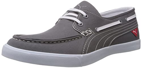Puma Mens Yacht Cvs Grey Canvas Boat Shoes