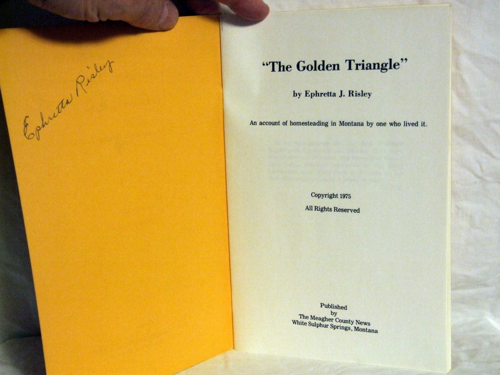 The Golden Triangle An Account Of Homesteading In Montana By One Who Lived It Risley Ephretta J Amazon Com Books,60th Wedding Anniversary Gift Ideas