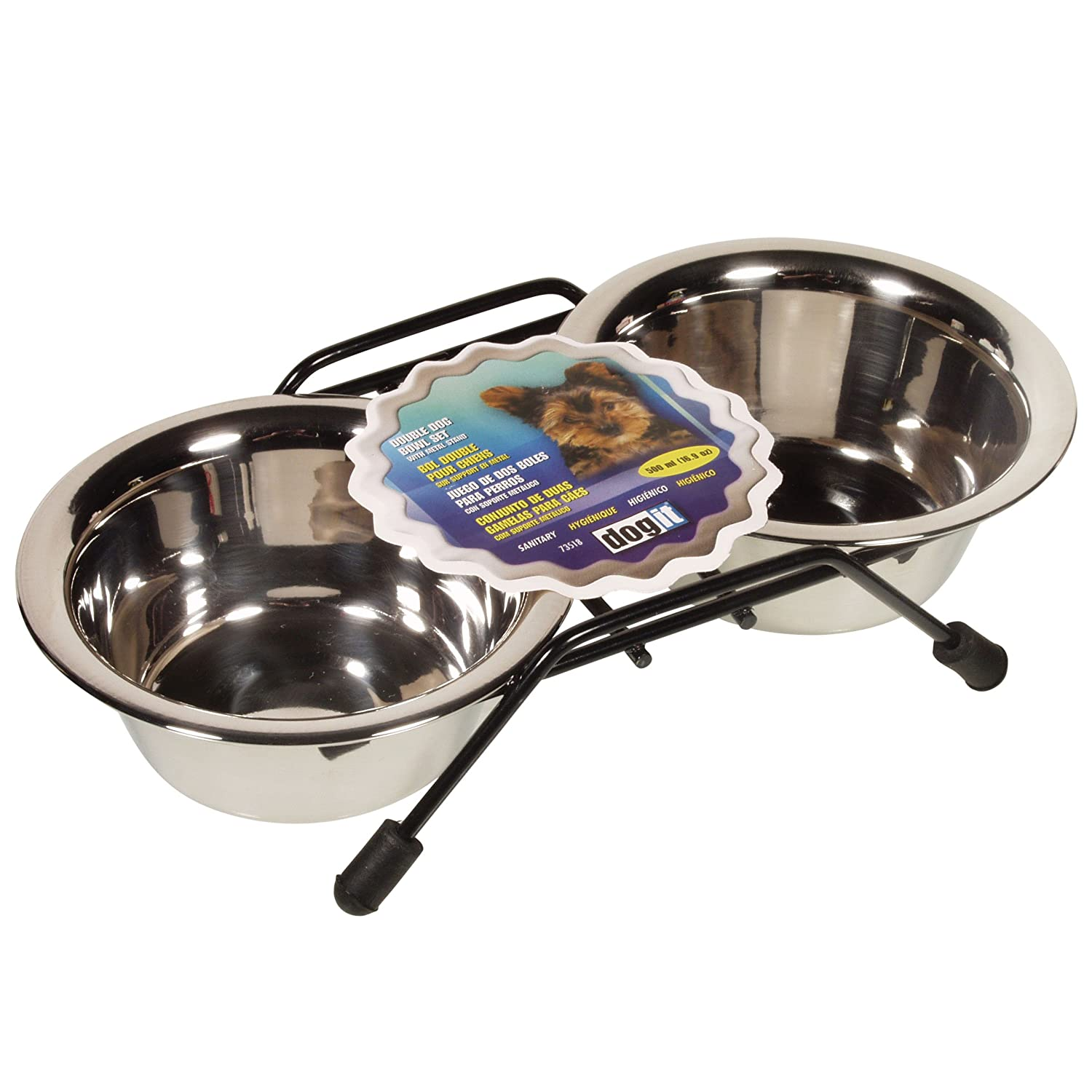(Mini) Dogit Stainless Steel Double Dog Diner