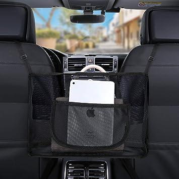 Driver Storage net Bag Dog guardrail Car seat Back net Bag car net Pocket Handbag Holder New car Storage net Pocket Between Two Seats
