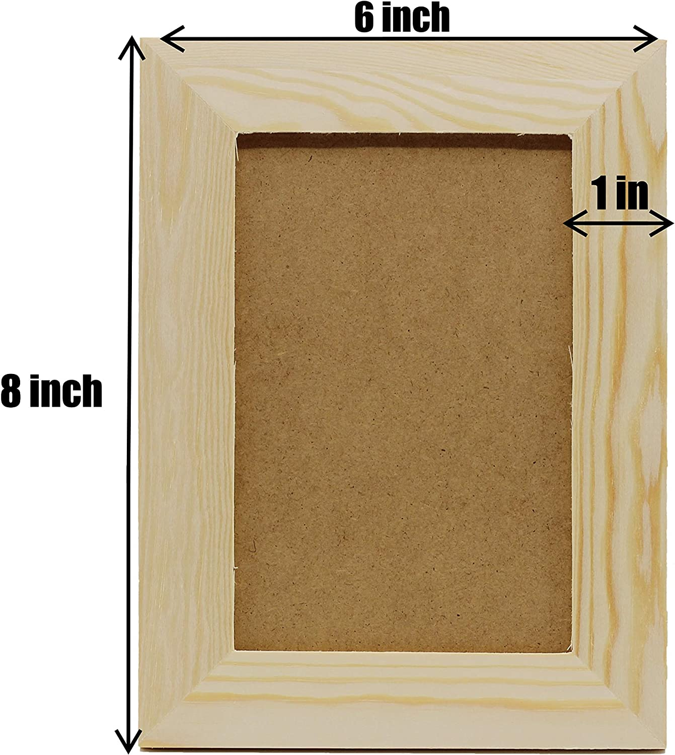 Wooden Plain Photo//Picture Frame Holder for DIY Scrapbooking Home Decoration