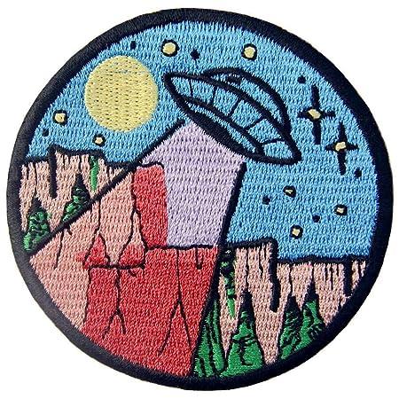zum Aufb/ügeln oder Aufn/ähen ZEGIN Aufn/äher Design: Berg und Weltraum Bestickt Outdoor erkunden