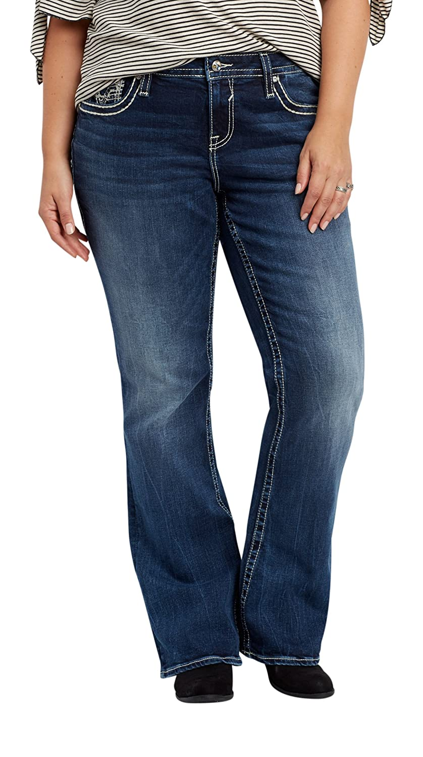effcdc89f3b maurices Women s Vigoss Plus Size Dark Wash Bootcut Jeans with Back Flap  Pockets