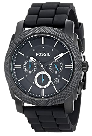 fossil holiday 2009 fs4487 45mm stainless steel case black fossil holiday 2009 fs4487 45mm stainless steel case black silicone mineral men s watch
