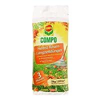 COMPO Herbst-Rasen Langzeit-Dünger, 3 Monate Langzeitwirkung, Feingranulat