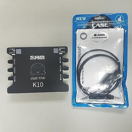 Amazon.com: XOX K10 USB Tarjeta de sonido no empotrado W/XOX ...