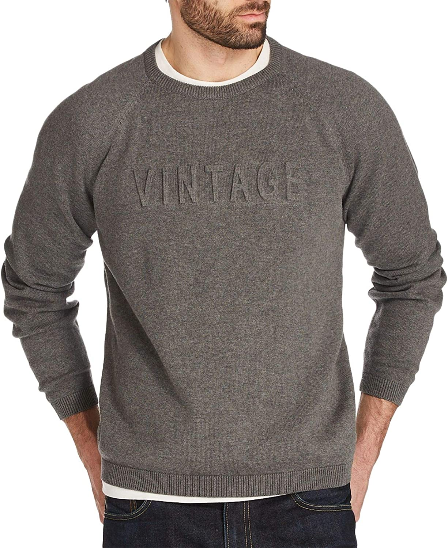 Max 55% OFF Weatherproof Challenge the lowest price Vintage Men's Logo Sweater Raglan-Sleeve Embossed