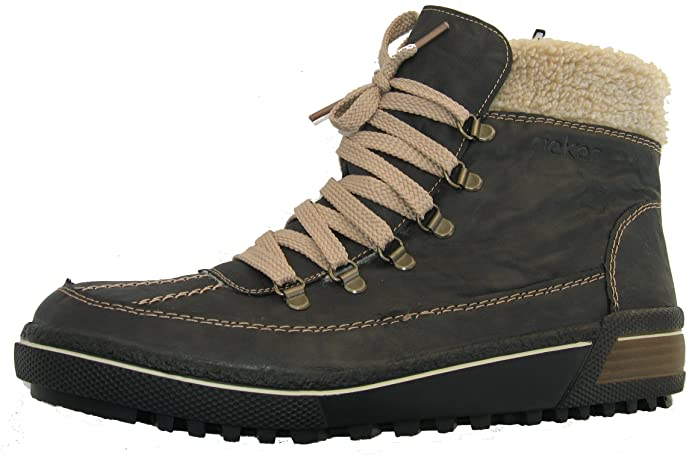 Rieker Schuhe Damen Stiefel Boots Wollfutter Fenja