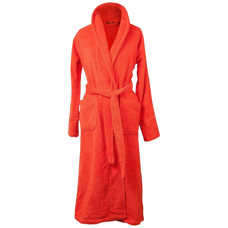 Aneesi Small Elegant Cut Oia Luxury Towelling Cotton Dressing Gown ... b09f07c71