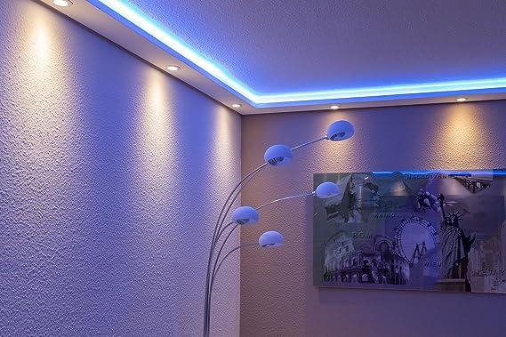 Licht-Profil f/ür indirekte Beleuchtung von Wand und Decke aus Hartschaum WDML-200A-ST von BENDU Moderne LED Stuck-Leiste