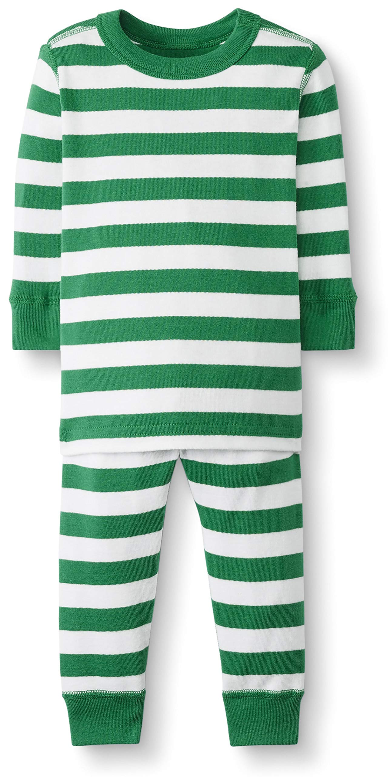 Hanna Andersson Baby/Toddler 2-Piece Organic Cotton Pajama Set Go Green/Hanna White-80 by Hanna Andersson