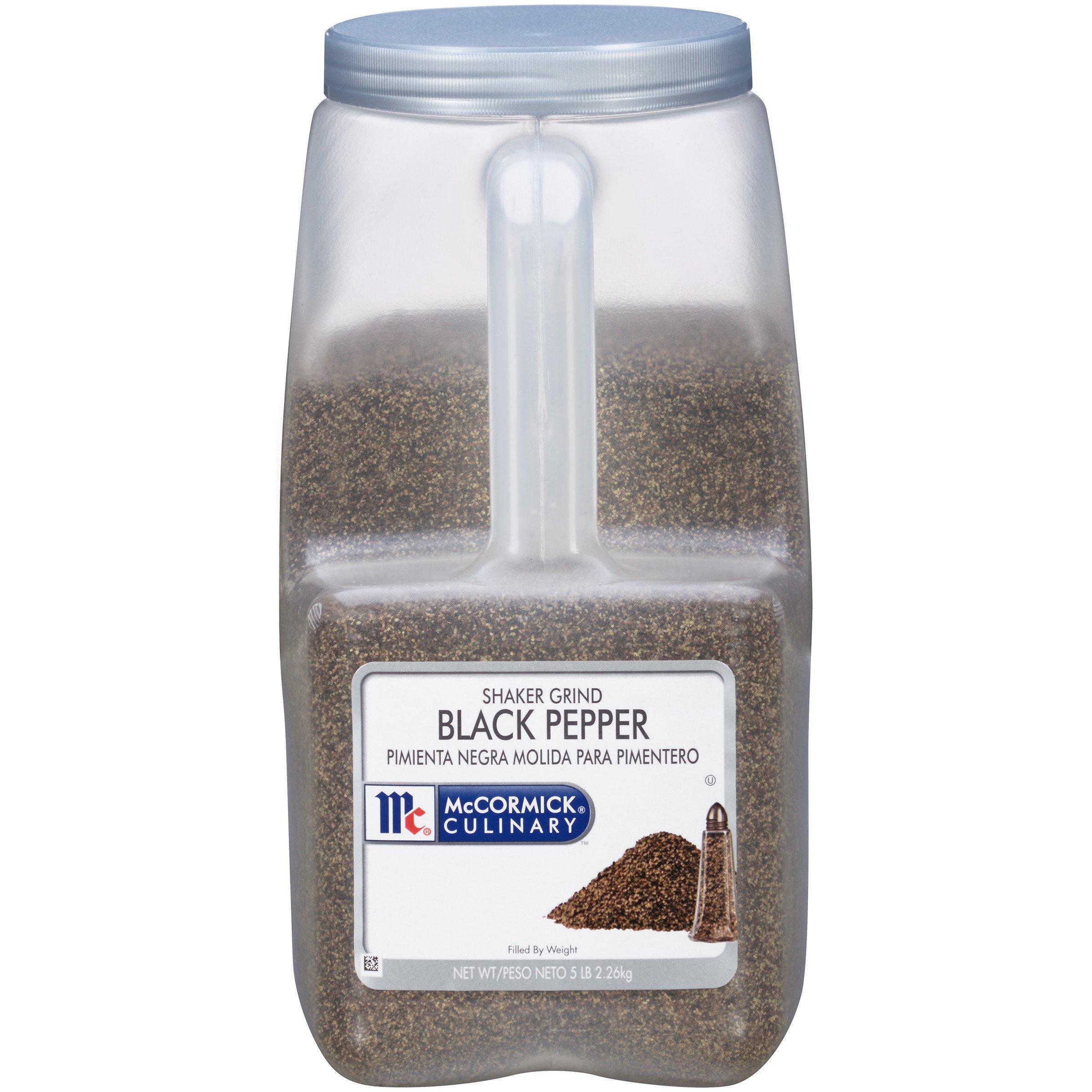McCormick Culinary Shaker Grind Black Pepper, 5 lbs
