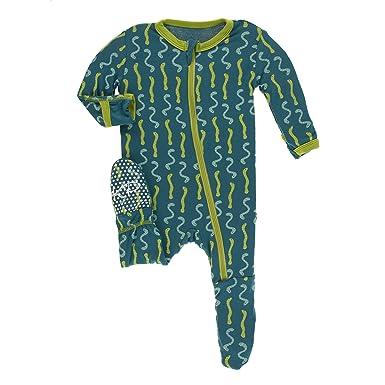 e1a636cd776 Amazon.com  Kickee Pants Bamboo Footie with Zipper  Clothing