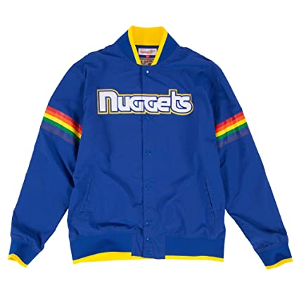 Mitchell   Ness Denver Nuggets NBA Net Warm Up Jacket In Royal Blue Size XL 456a77a32