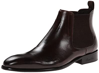 Kenneth Cole New York Men's Wheel S Up Leather Chelsea Boot, Brown, ...