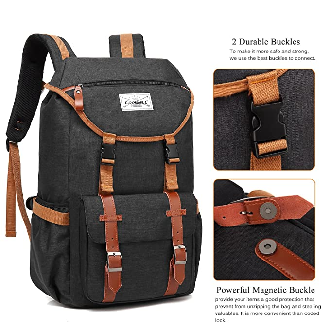 Amazon.com: UtoteBag 17.3 Inch Laptop Outdoor Vintage Backpack Multi-Compartment Large College School Rucksack Scratch-Resistant Student Schoolbag Bookbag ...