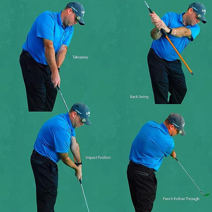 Anti-Flip Stick™ Impact Golf Swing Training Aid | Teaches Proper Impact & Swing Plane | Golf Swing Trainer | Golf Chipping Practice Aid