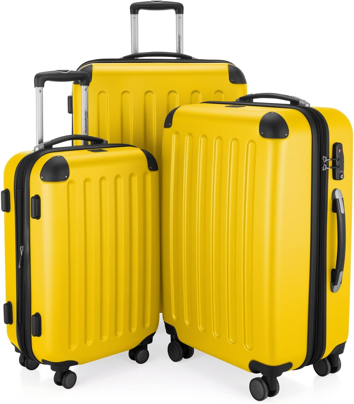 Hauptstadtkoffer Spree, Juego de maletas, Amarillo