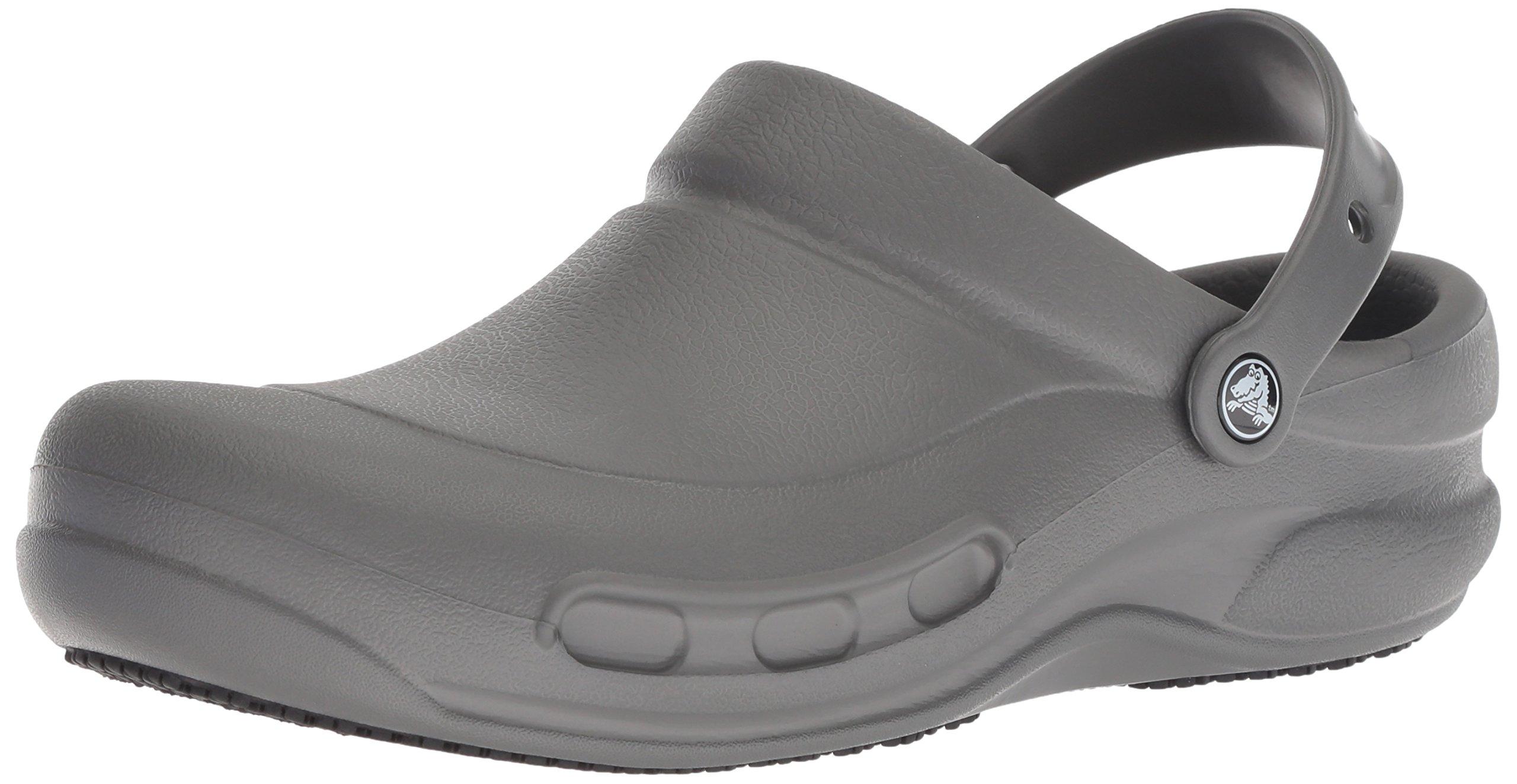 Crocs Men's and Women's Bistro Clog Slip Resistant Work Shoe, Great Nursing or Chef Shoe