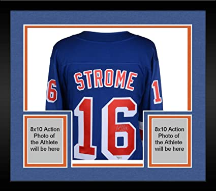 31cb7f805 Framed Ryan Strome New York Rangers Autographed Blue Fanatics Breakaway  Jersey - Fanatics Authentic Certified