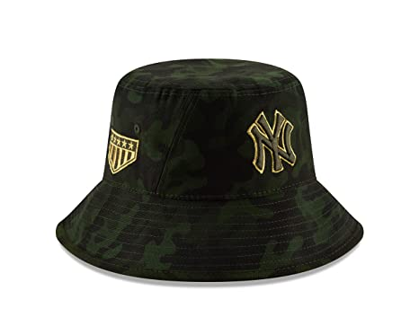84f750b47cdff Image Unavailable. Image not available for. Color: New Era New York Yankees  2019 MLB Armed Forces Day Bucket Hat ...