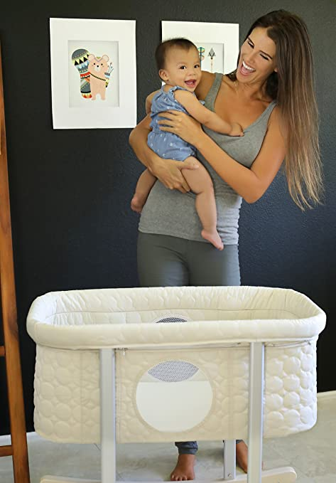 Cradle - Gentle Rocking , Mesh Windows , Lightweight and Transportable.