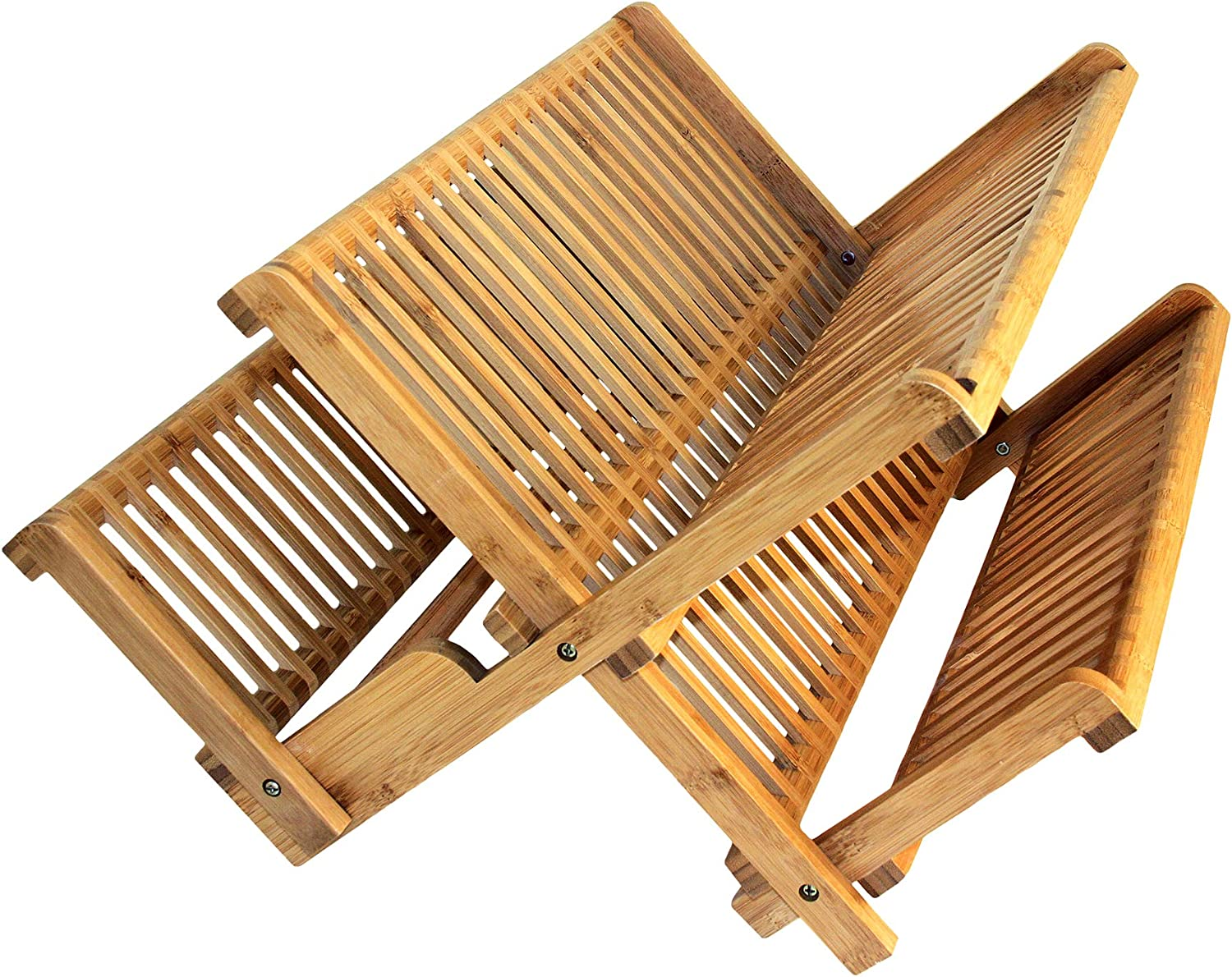 Totally Bamboo Eco Dish Rack Utensil Holder Beautiful and Durable Bamboo