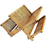 Totally Bamboo–Escurreplatos Plegable, Capacidad Extragrande para máximo Almacenamiento, Hermoso y Duradero bambú, 48.26 cm