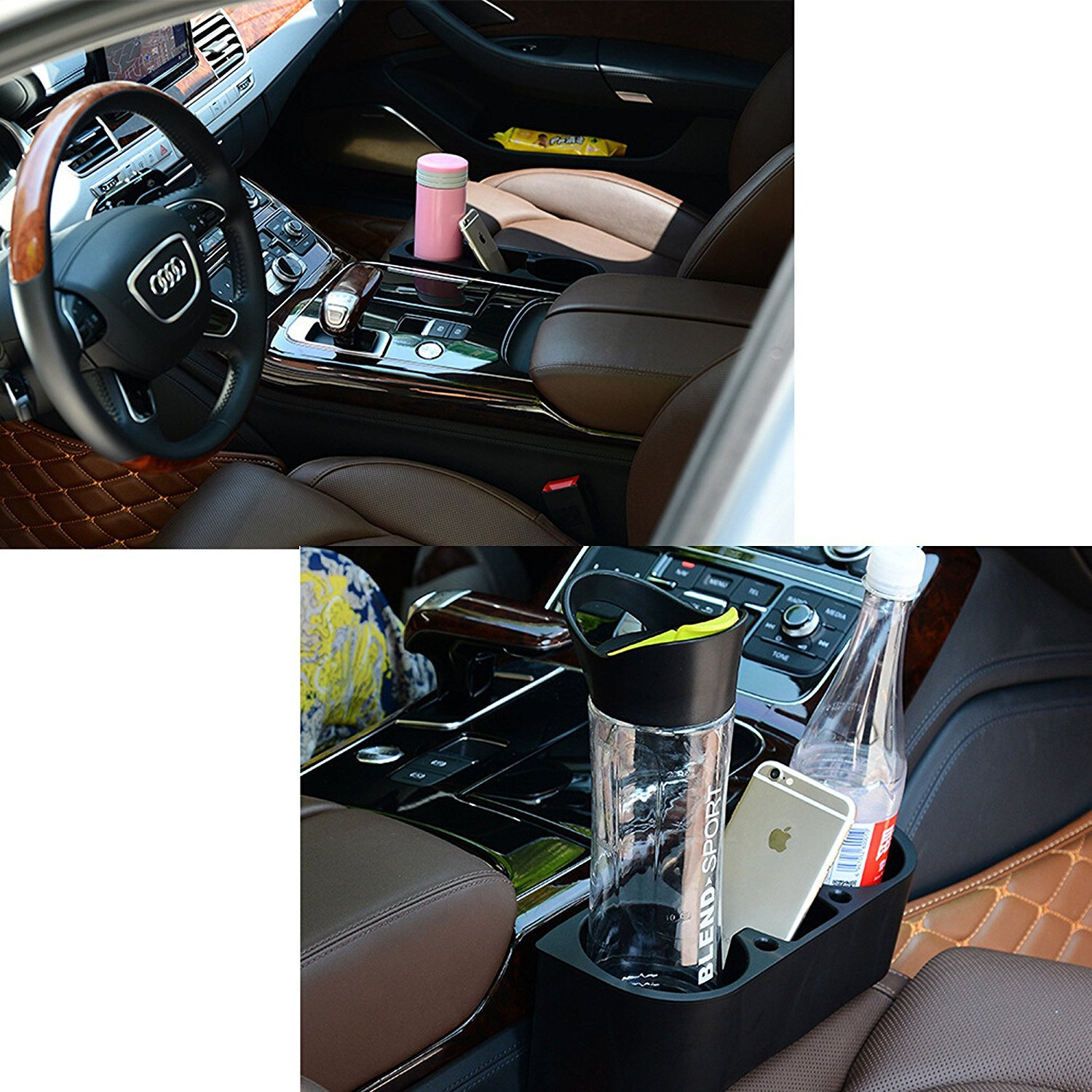BCP Black Color Auto Car Seat Side Drink Cup Holder Organizer 4350406688