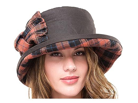 Jane Anne Designs Ladies Waxed Cotton Waterproof Wax Cloche Bucket Hat