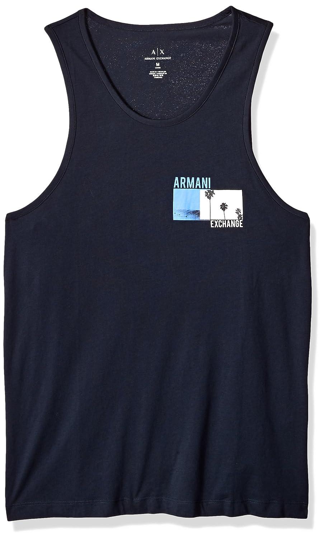 A|X Armani Exchange Men's Palm Tree Cotton Tank