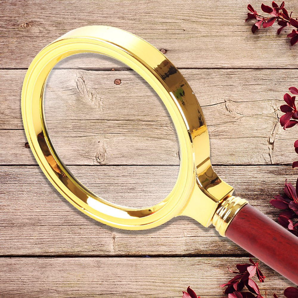 Home Mart Antique Mahogany Handle Magnifier Metal Reading Magnifying Glass 60mm Lens Jewelry Loupe by Home Mart (Image #6)