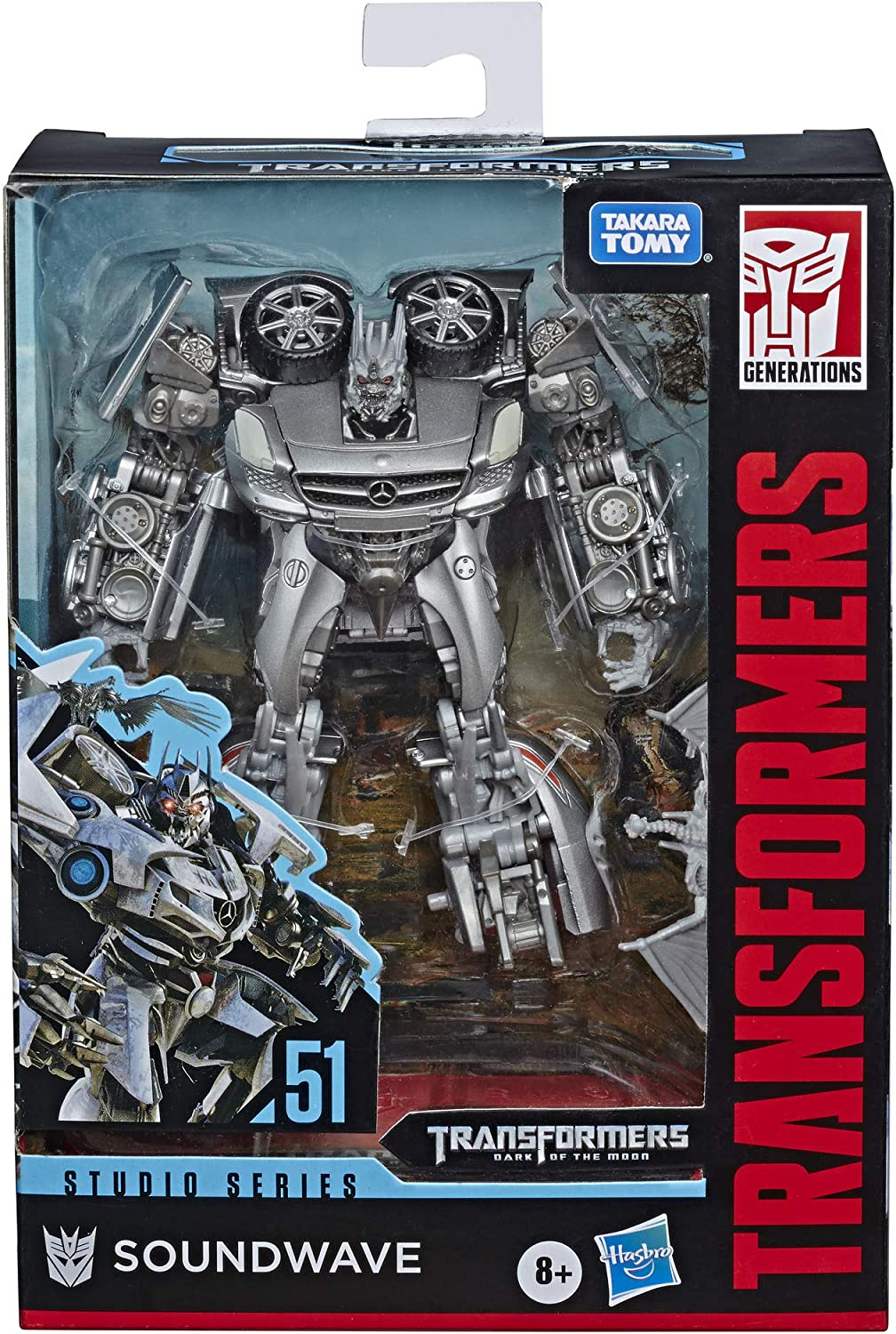 """Transformers Toys Studio Series 51 Deluxe Class Dark of The Moon Movie Soundwave Action Figure - Kids Ages 8 & Up, 4.5"""""""