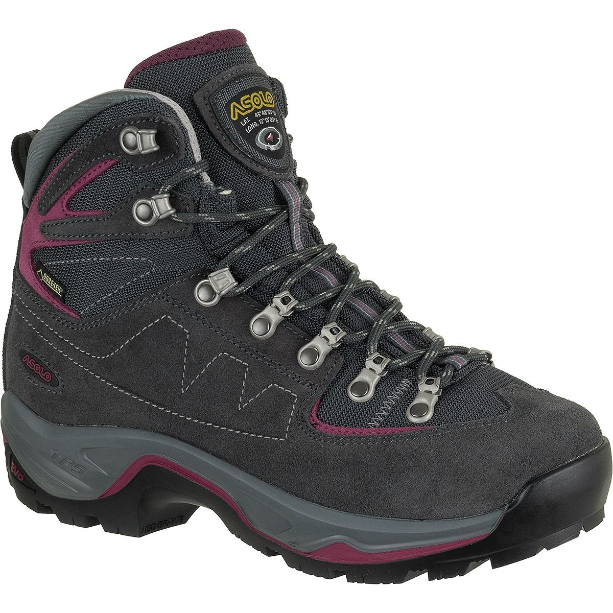 Asolo TPS Equalon GV B00WE3NYTU Backpacking Boot - Women's B00WE3NYTU GV US Women's 7.5 B (M)|Graphite/Red Bud 120feb
