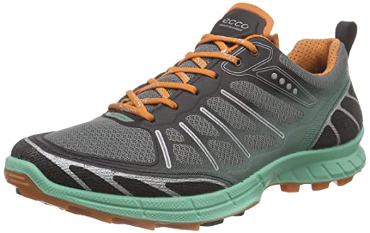 ECCO Womens Biom FL Lite Trail Running Shoe       Black Granite Green Orange
