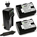 Wasabi Power LP-E6, LP-E6N Battery (2-Pack) and Charger for Canon EOS 5D Mark II/III/IV, EOS 5DS, 5DS R, EOS 6D, 6D Mark…