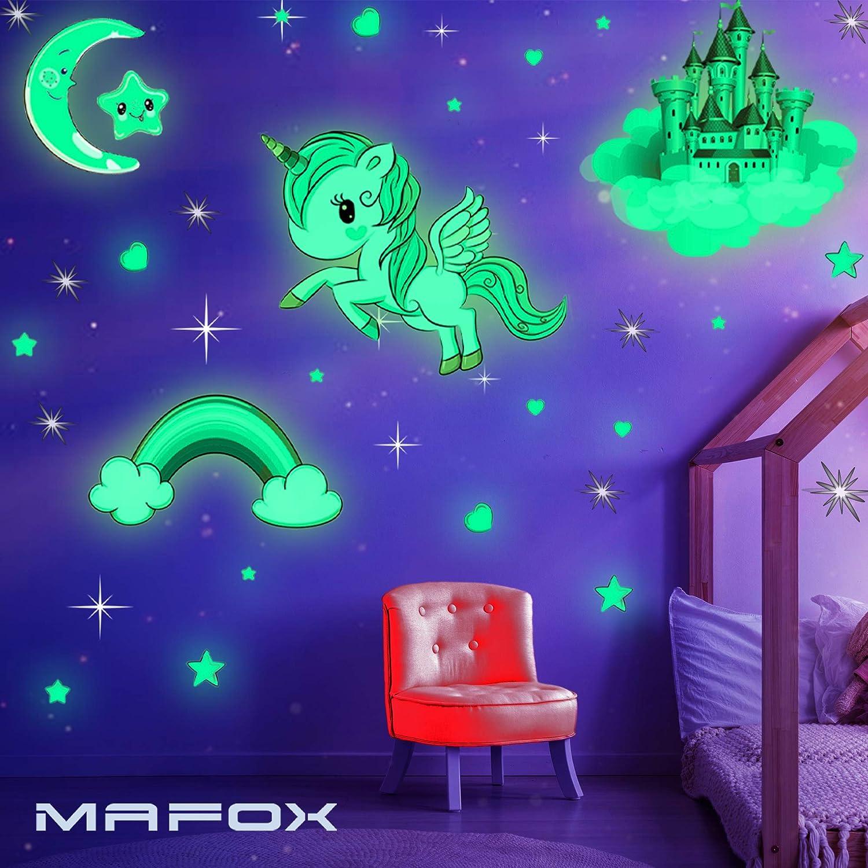 Amazon Com Glow In The Dark Stars Glowing Unicorn Sets With