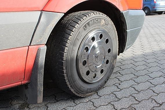 16 Pulgadas Tapacubos (4 unidades, acero inoxidable fahrzeugspezifisch para einzelbereifte coches o furgonetas y: Amazon.es: Coche y moto