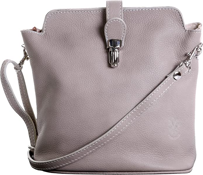 e9827aa597da Primo Sacchi Italian Soft Leather Hand Made Small Beige Cross Body or  Shoulder Bag Handbag