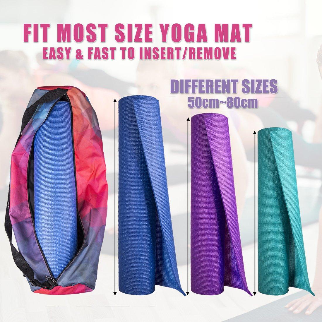 RoryTory Yoga Mat Bolsa w/Correa, Portador de Botella de ...