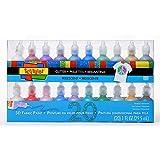 Bulk Buy: Scribbles Glitter 3D Paint Glitter - Pack of 20 Glitter, Nontoxic & Permanent Dimensional Paints for Fabrics…