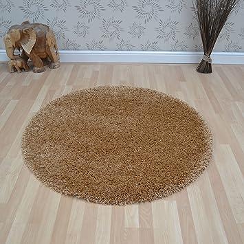 Teppich rund beige  Hochflor Shaggy Teppich TWILIGHT 39001 2233 honig / beige in 200 ...